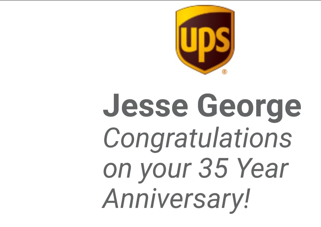 Thank you @UPS for allowing me to be on your team for 35 years.   #howtimeflys #lovemyjob pic.twitter.com/ikuptaLrRR