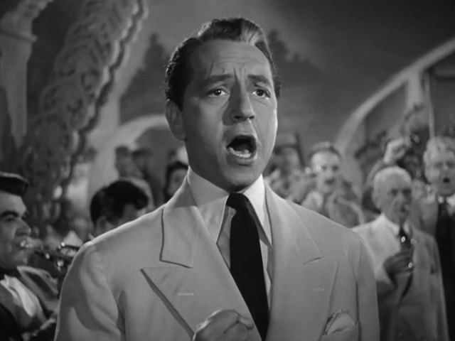 """I just love Paul Henreid in #casablanca .  Yes, Victor Laszlo is not as """"cool"""" as Rick (who is) but he's a real good guy. He's the guy you want to follow into a fight. Or get up and sing a song as loud as you can with and piss the Nazis off. #TCMEssentialspic.twitter.com/AIPYBFBtaM"""
