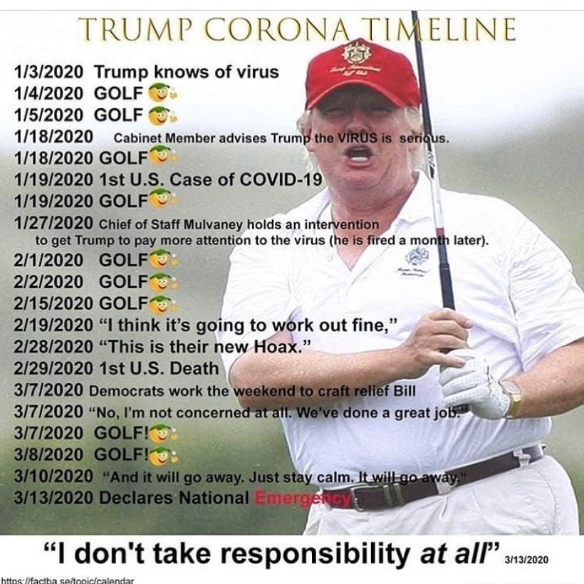 @NancyLChapman @briantylercohen @nytimes @JoeBiden Now do Donald Trump, who right now is PLAYING FUCKING GOLF!