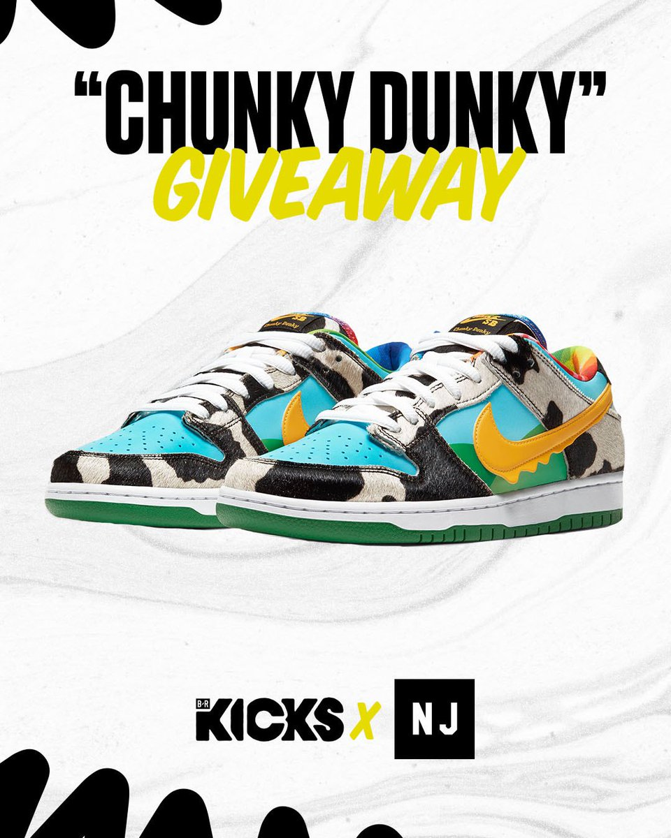 We teamed up with NJ Skate Shop to giveaway one pair of the Ben and Jerry's x Nike SB Dunk Low!  How to enter: 1. Follow @brkicks and @NJSkateshop  2. RT this tweet 3. Reply with your size  Winner will be chosen Tuesday 🤞 https://t.co/ZmTVLM4jVc