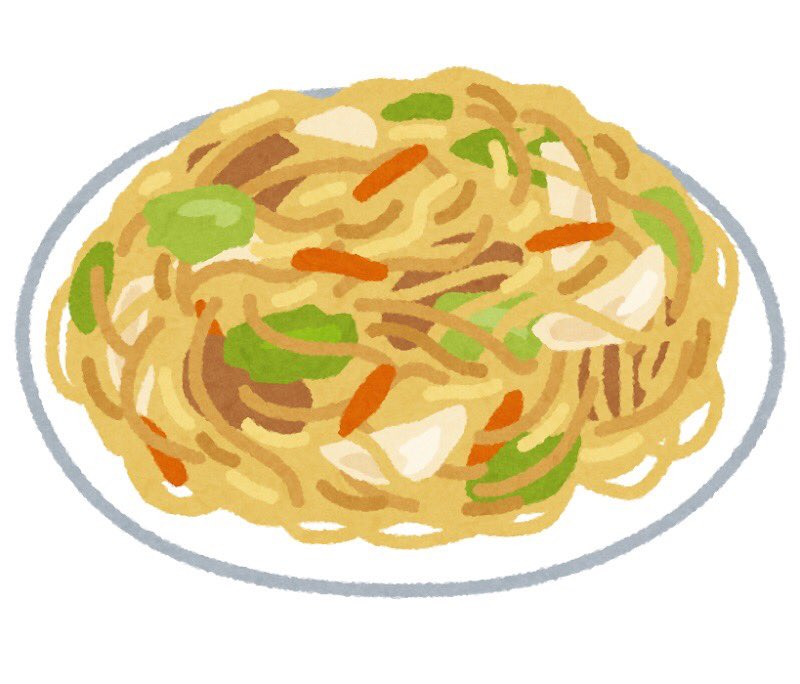 Dinner last night. #Yakisoba, #Boiled_Komatsuna. Yakisoba is a mixture of udon. The cook's mother says it has a good texture. I drank one 500 ml can of the 3rd beer. (Illustration is an image)pic.twitter.com/dVrDvu7Uqj