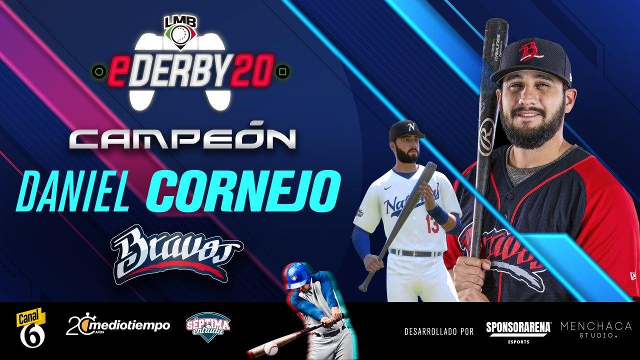 Daniel Cornejo es el primer campeón del eDerby de Liga Mexicana de Béisbol.