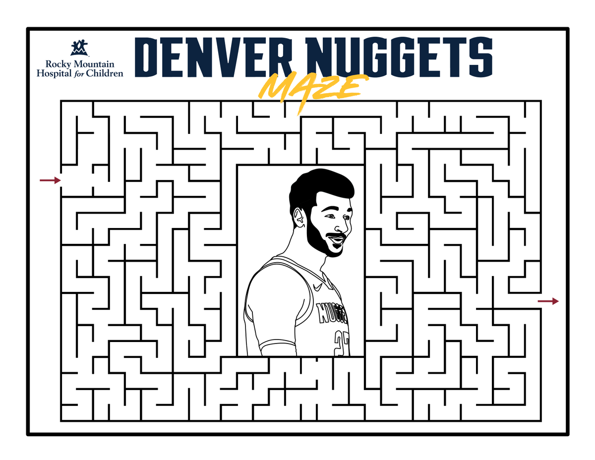 Help Murray find his way through the maze!  #MileHighBasketball https://t.co/SbfR3Njxwy