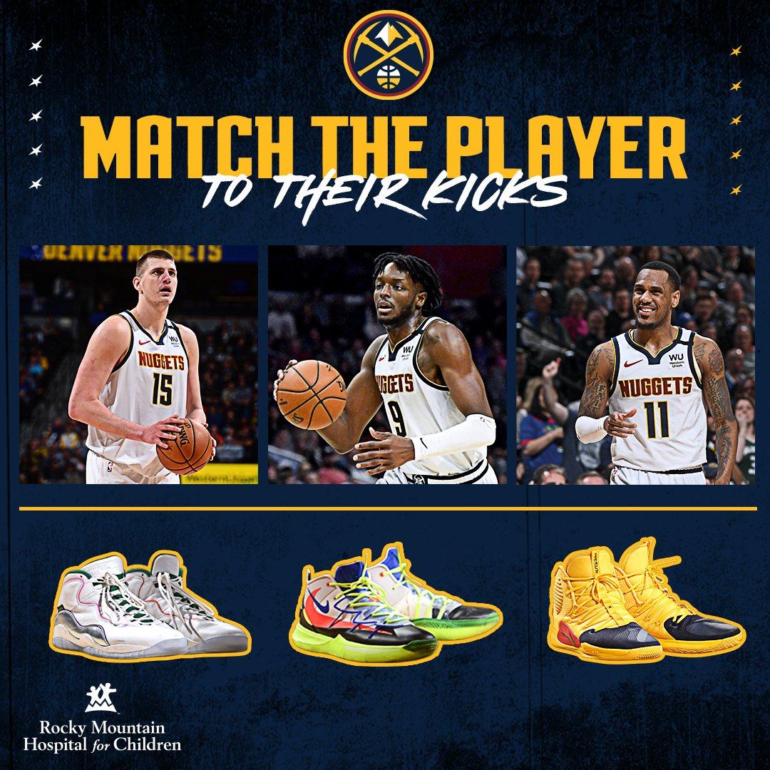 Sneakerheads,   Which pair goes with which player?  (We'll give you the answers later)  #MileHighBasketball https://t.co/TqhGCCjtC6