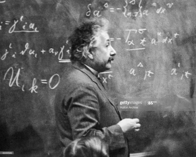 'The meaning of relativity has been widely misunderstood, Philosophers play with the word, like a child with a doll ... It does not mean that everything in life is relative and that we have the right to turn the whole world mischievously topsy-turvy.'  -Albert Einstein https://t.co/0BZBADrNqN
