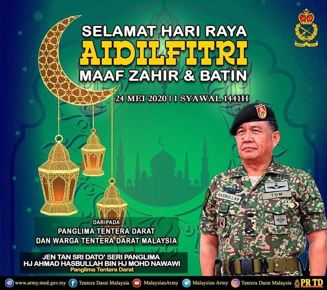 Kepada perwira negara yang bertugas sebagai frontliners, Tentera Darat menzahirkan setinggi-tinggi penghargaan dan terima kasih atas pengorbanan yang diberikan. Semoga khidmat bakti Tuan-tuan mendapat balasan yang baik dari Allah. #TenteraDaratMalaysia #StayHealthyProtectYourself https://t.co/vY6wsVtQl8