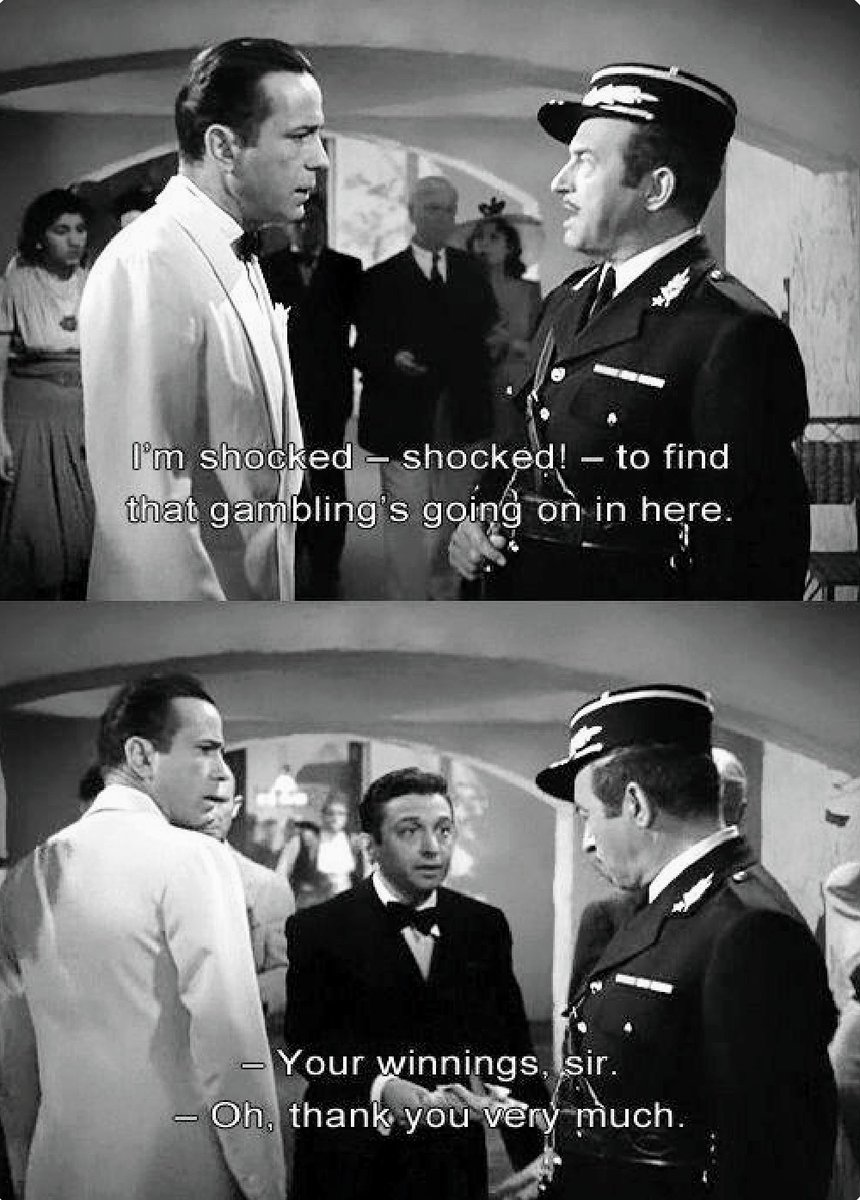 Rewatching #Casablanca. Every line delivered by Claude Rains is pure gold. #TCMPartypic.twitter.com/MuJ1o2s2vZ