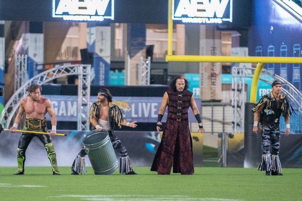 GIMME AN OL' RE-TWEET if ya think @AEWrestling's #StadiumStampede is the GREATEST SPECTACLE that you've ever witnessed in pro wrestling!   It was a 45 min THRILL-RIDE that will be remembered as a milestone battle to those who genuinely love to be entertained by pro wrestling. <br>http://pic.twitter.com/15Ae6nsx45