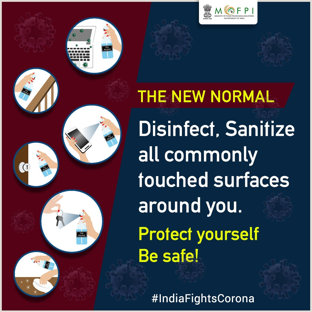 Simple and effective healthy hygiene habits can help us fight against #COVID19.  Clean, disinfect the commonly touched surfaces around you regularly. Protect yourself and others. #IndiaFightsCorona #Lockdown4 #CoronaOutbreak https://t.co/NvIwnUL6LI