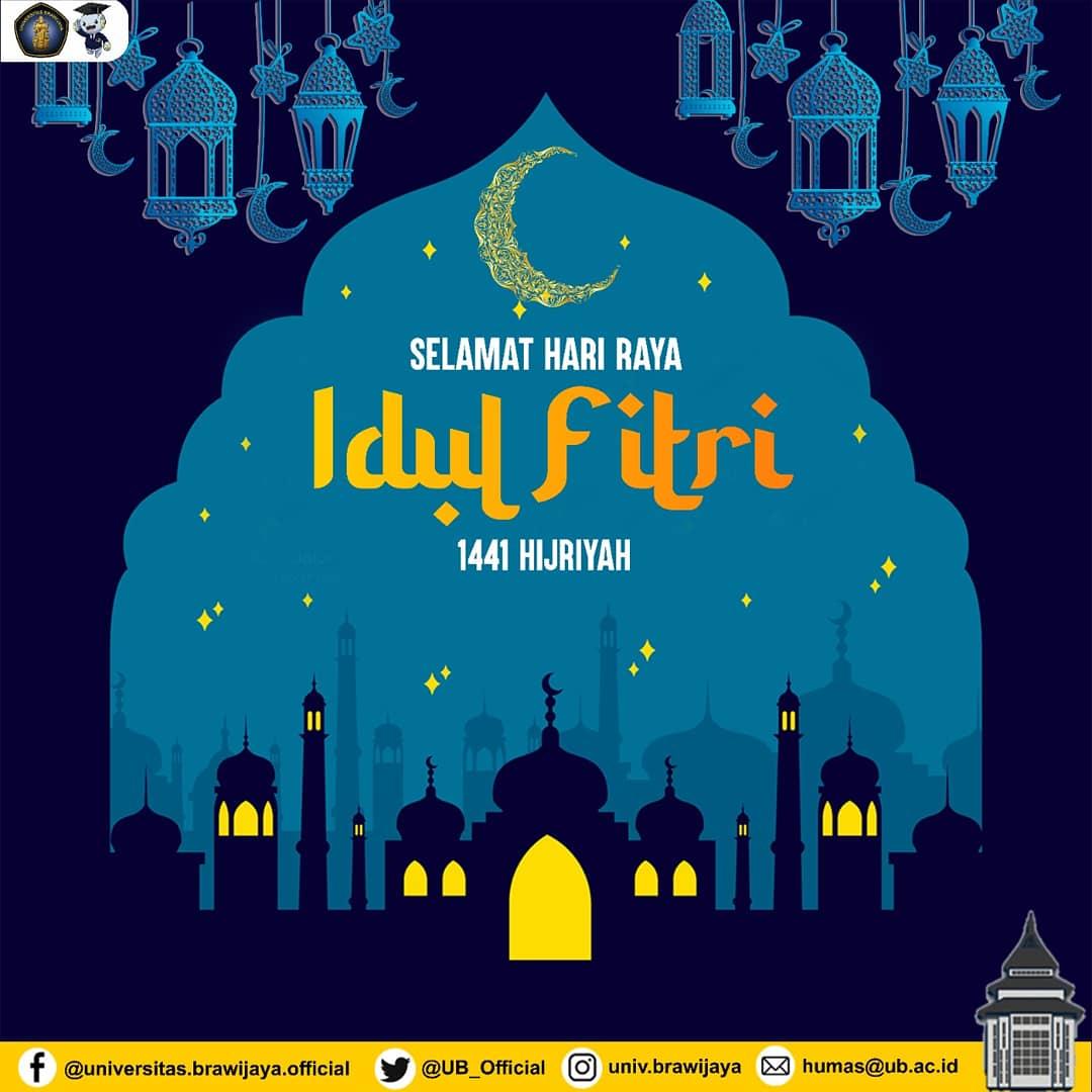 Selamat Idul Fitri, #TemanUB.  Mohon maaf lahir dan batin ya!   Selamat berkumpul dengan orang tersayang. Salam hormat mimin untuk keluarga ya.   Makan apa kita hari ini?  #UniversitasBrawijaya #KampusUB #UBLebaran
