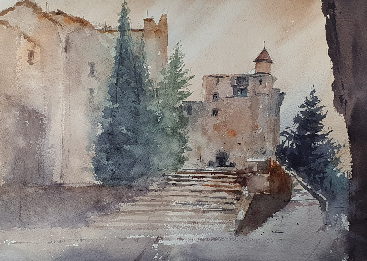 Spain street watercolor  In today's live, I painted a Spanish street with watercolor. I tried to focus on the focal point.  [YouTube] https://youtu.be/U3RrbTbpxY0   #drawing #dailydrawing #dailysketch #watercolor #aquarelle #street #spain #traveldrawing #youtubelive #drawingtalkpic.twitter.com/VQfiQi9sW2
