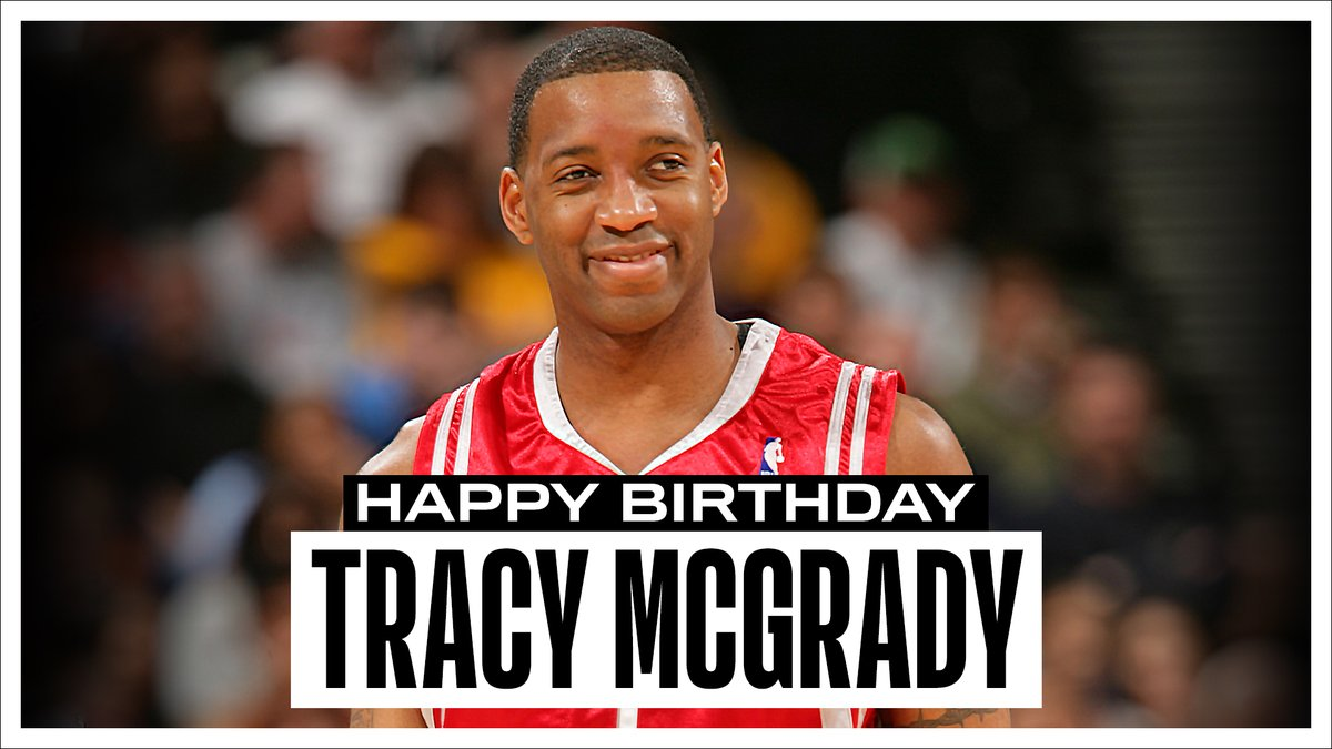 Join us in wishing a Happy 41st Birthday to 7x #NBAAllStar, 2x NBA scoring champion and @Hoophall inductee, Tracy McGrady! #NBABDAY https://t.co/PHbmjPlHzj