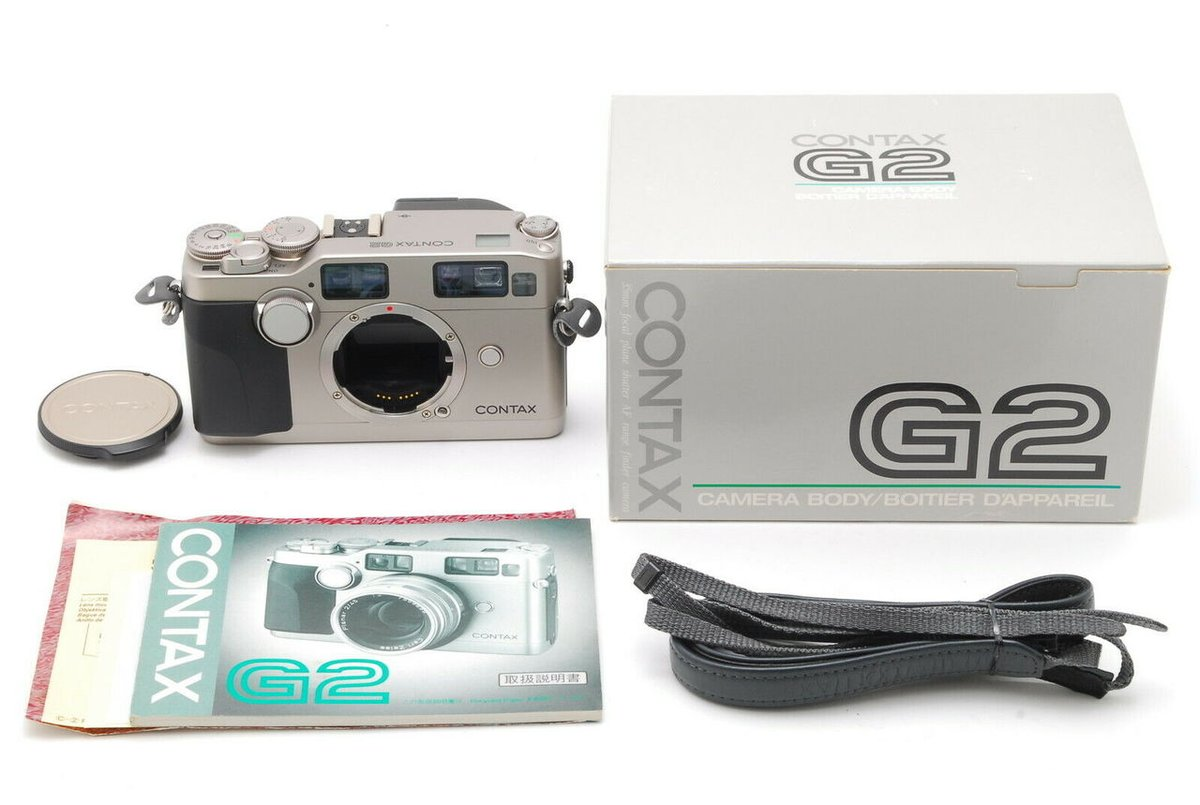 Hi there, this is new listing!  CONTAX G2 https://japonicamera.com/mint-in-box-contax-g2-35mm-rangefinder-film-camera-body-strap-from-japan-6330/ …   There are many new arrival items on Japonicamera. https://japonicamera.com/shop-all/?sort=newest …  #CONTAX #CONTAXG2 #G2 #Camera #Rangefinder pic.twitter.com/MdOr1p15go
