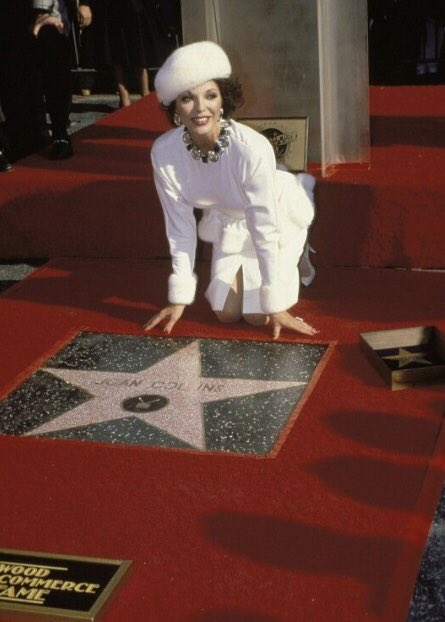 Happy Birthday to Walk of Famer Joan Collins who was honored with her star on December 12,1983.