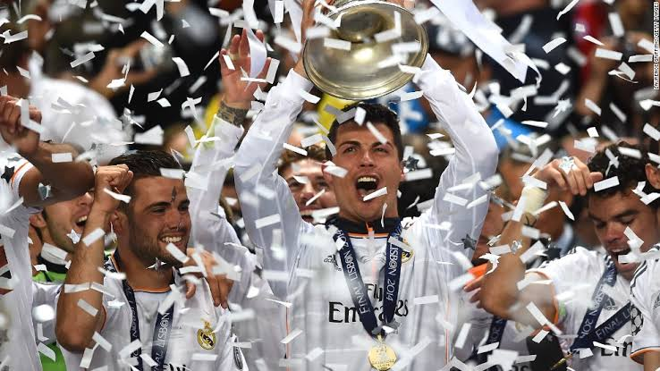 #OnThisDay in 2014, Cristiano Ronaldo won his first Champions League trophy with Real Madrid. <br>http://pic.twitter.com/DVhEmAGFNf