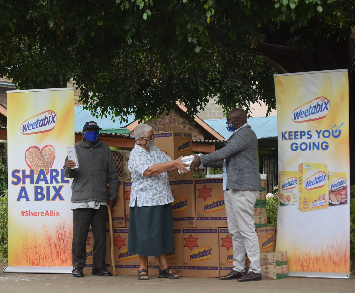 We joined Sister Lydia D'sa at Kariobangi Chesire Home 'Nyumba ya Wazee' as part of our #ShareABix Covid -19 Community initiative; and donated Weetabix Breakfast cereals for the 32 elderly vulnerable people who live at the peaceful home. Thread.👇🏾👇🏾 https://t.co/0TU1S97VPk