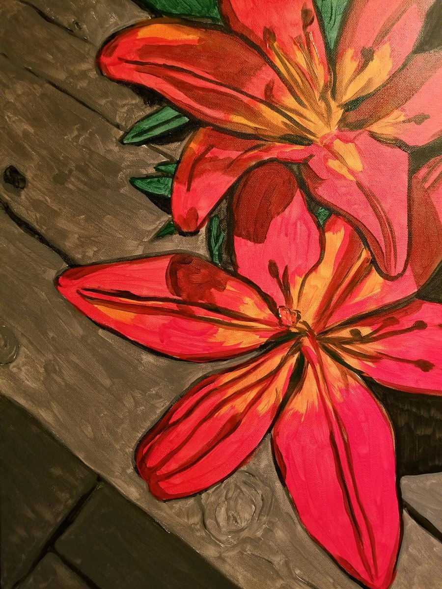 Base layer is looking good! This painting pops!  #wip #acrylicpainting #floralpaintingpic.twitter.com/4T9XYHwvcJ