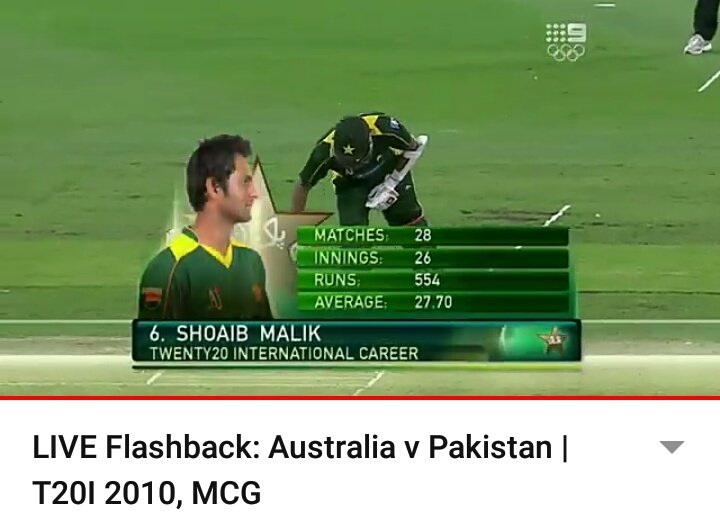 Malik comes for bat...😍 #PAKvAUS