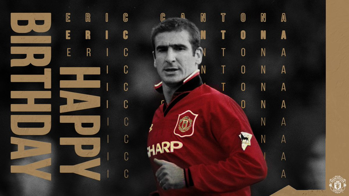 One of the greatest 👑  Many happy returns to #MUFC legend, Eric Cantona! 🎈 https://t.co/huqnyGNYLF