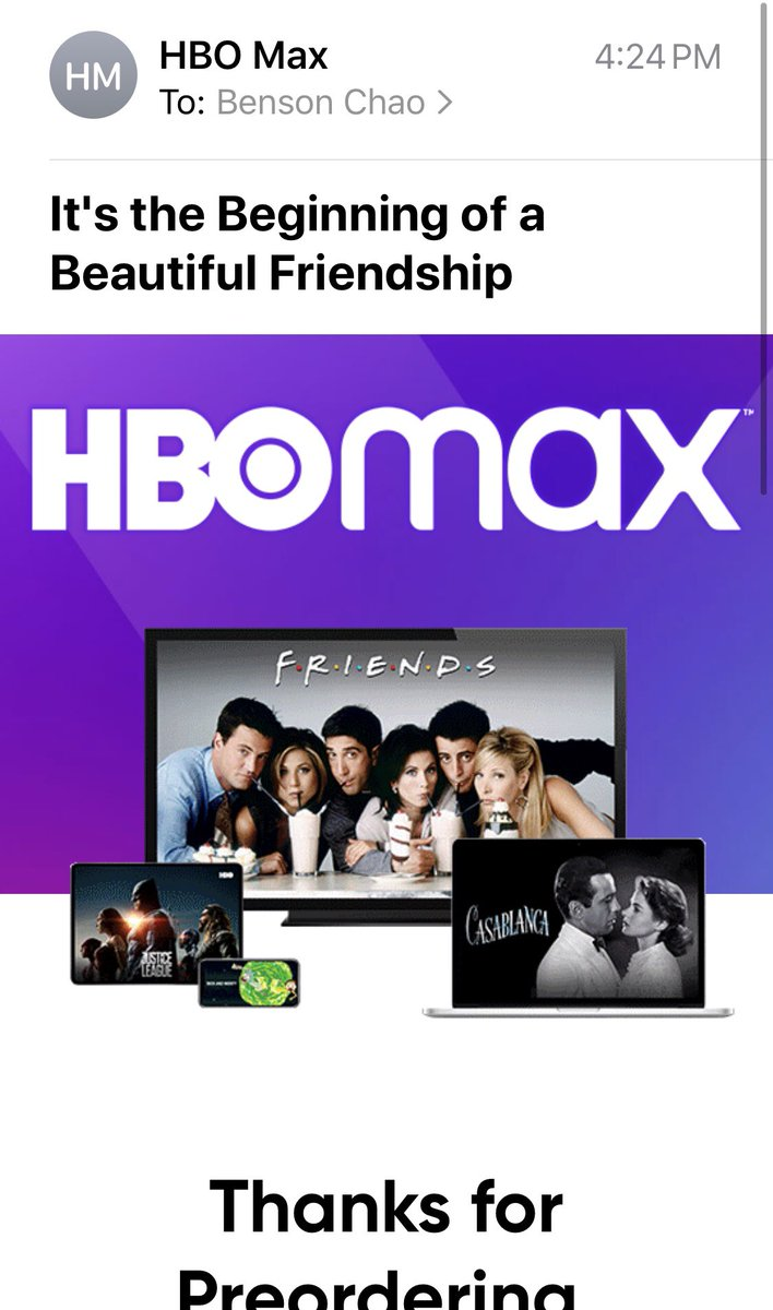 HBO Max people really do love movies lol #HBOMax #HBO #Casablanca pic.twitter.com/h6zHlv8NGr