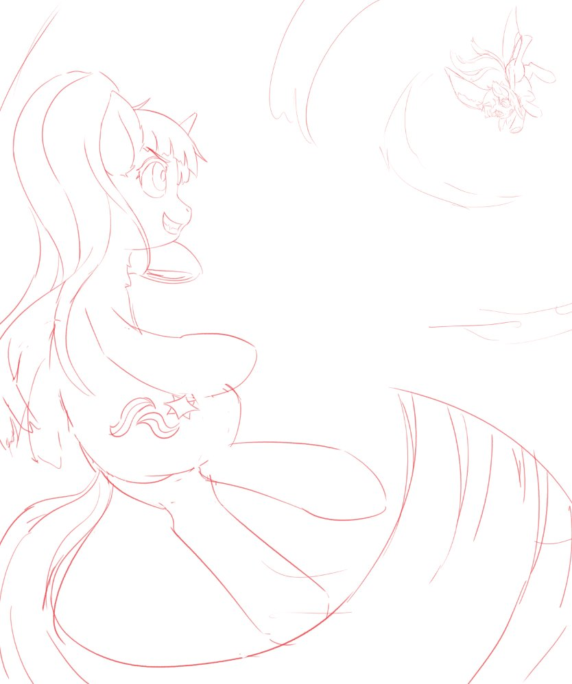 Tried to do perspective. :) Starlight and Twilight Battle Sketch #MLPFiM <br>http://pic.twitter.com/7UMwtH2Cbq