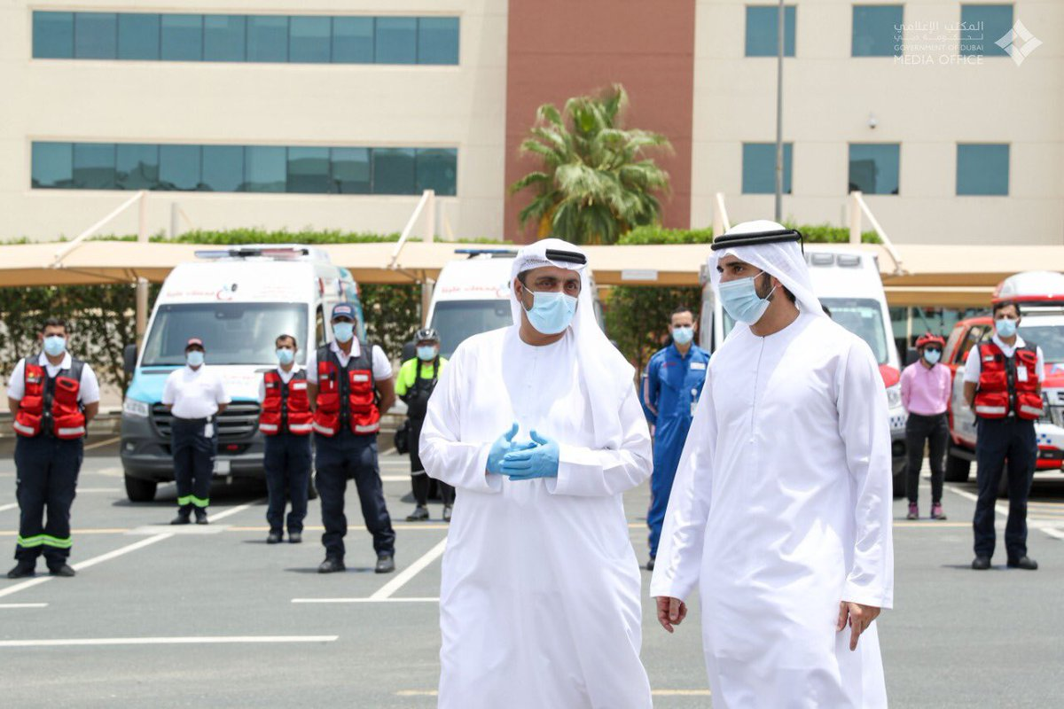 .@HamdanMohammed during his visit to @Dubai_Ambulance on the morning of the first day of Eid Al Fitr.pic.twitter.com/oZLKn3CIlM