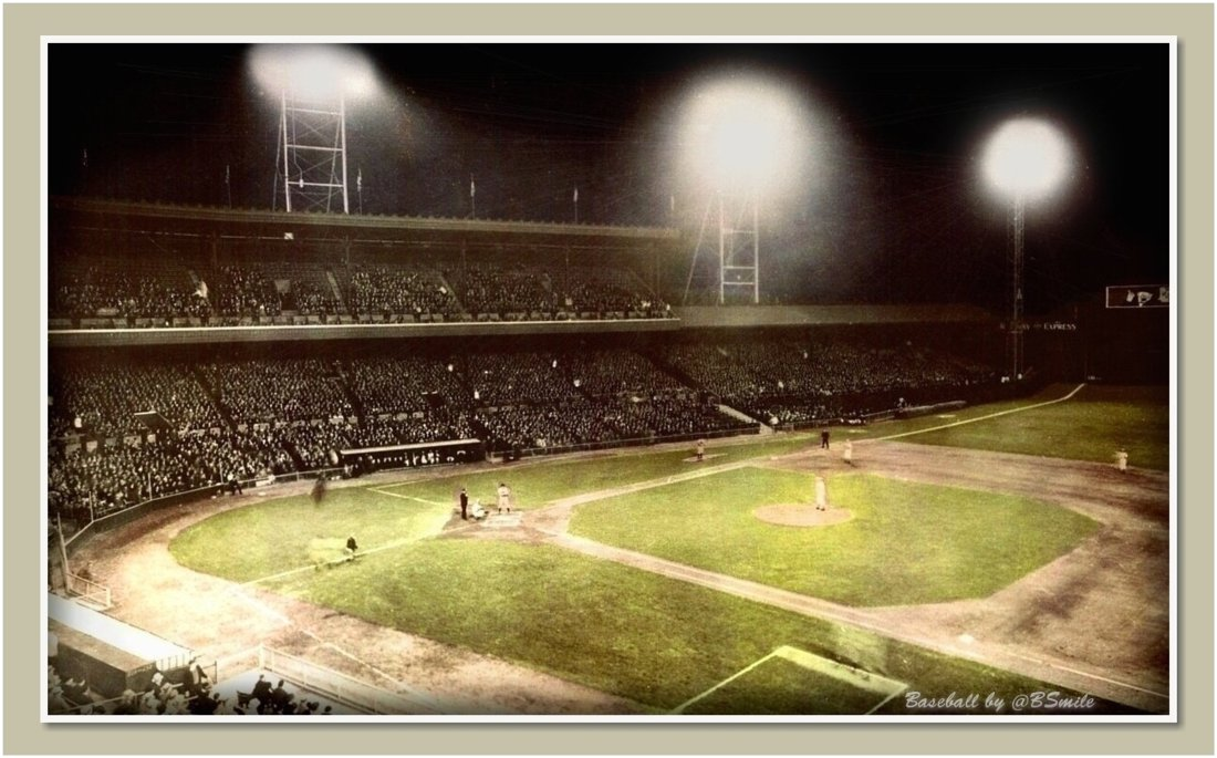 Today In 1935: The Cincinnati #Reds defeat the Philadelphia #Phillies 2-1 in the first major league night game! (Crosley Field, Cincinnati) Fun Fact: President Franklin D. Roosevelt pushed a button at the White House to turn on the lights! #MLB #Baseball #History https://t.co/IPF8CBkBv3