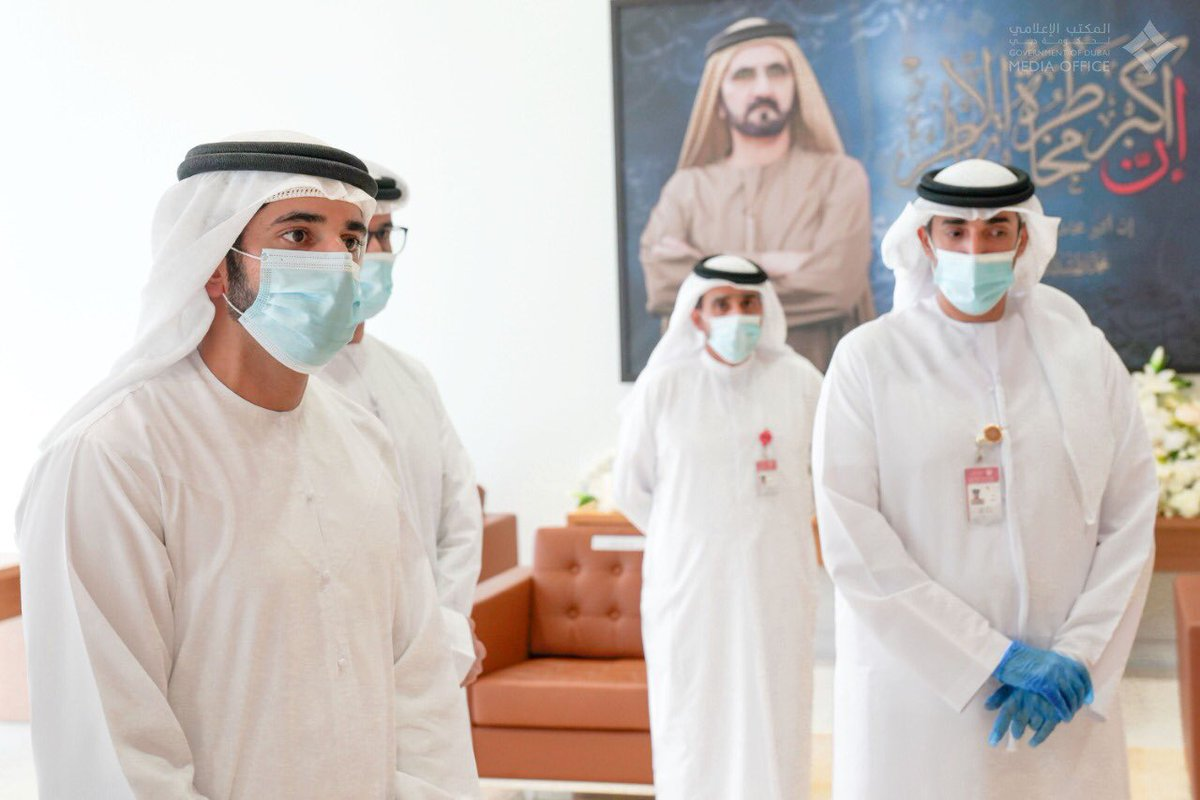 .@HamdanMohammed during his visit to #Dubai's State Security headquarters on the morning of the first day of Eid Al Fitr.pic.twitter.com/SJw2qQMuSX