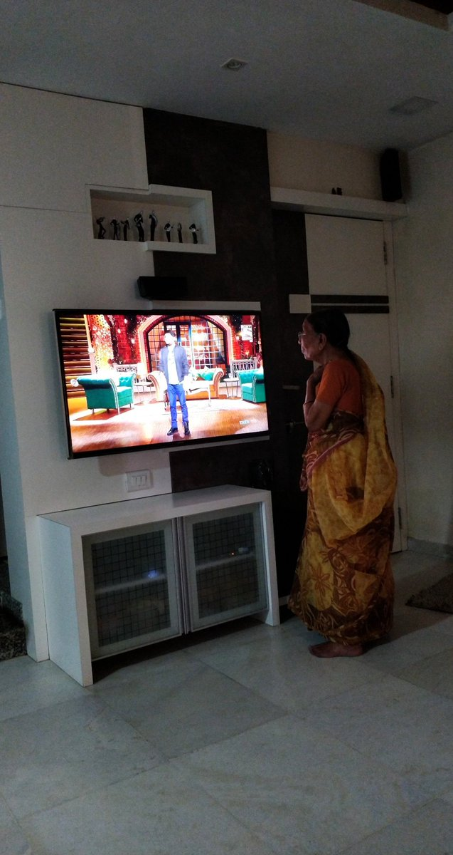 my grandmother 86 years old glued to #TKSS #lockdownindia #Lockdown4  Thank You for making all the age group laugh @KapilSharmaK9 <br>http://pic.twitter.com/DSgfBplRii