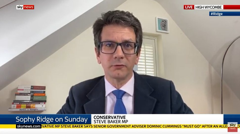 Steve Baker giving PM a deadline of Weds liaison committee to get rid of Cummings