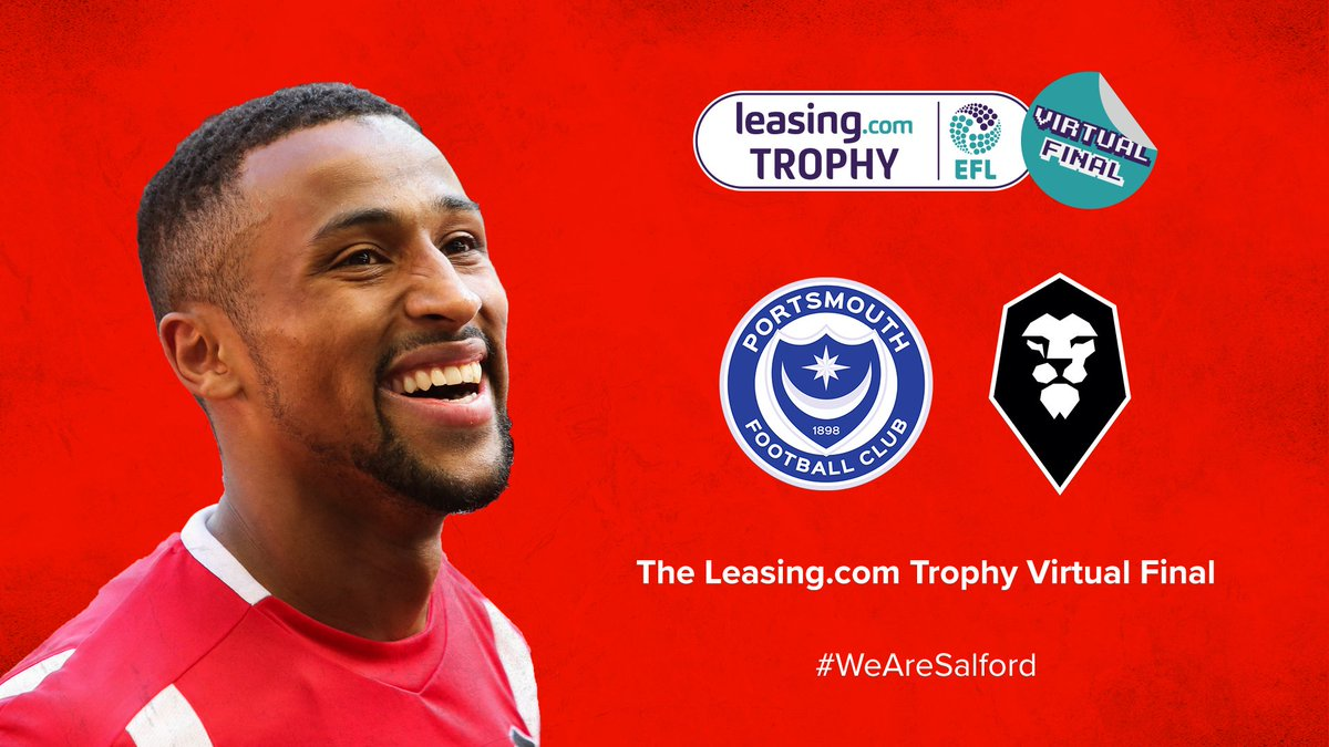 Today is our virtual matchday! 😍 Ibou Touray will be taking on @Pompeys Steve Seddon in an @EASPORTSFIFA match for The @LeasingcomTrphy Virtual Final! 🙌 🕑 KO 14:00 📺 youtu.be/A97dpe0mtCY #WeAreSalford 🦁🔴