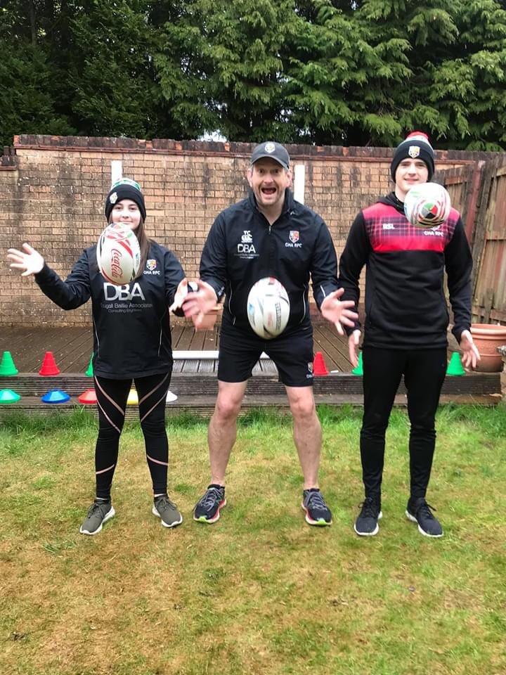 Morning!🏉 It's a bit dreich out there today but nothing that can stop a bit of rugby!💪🏼 Team Carmichael will be LIVE at facebook.com/GHARugby from 1030am for today's #MiniRugbyLIVE session! ⭐️Suitable for P1+, available to everyone! #GHARugby #TogetherStronger