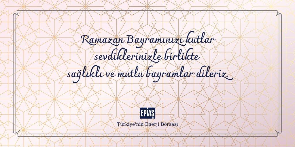 Ramazan Bayramınızı kutlar; sevdiklerinizle birlikte sağlıklı ve mutlu bayramlar dileriz.  #ramazanbayramı https://t.co/kdiAxakBvW