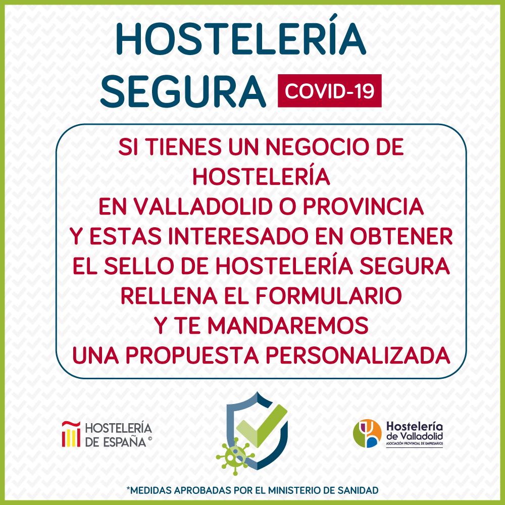 ‼️Si tienes un negocio de hostelería en Valladolid o Provincia y estas interesado en obtener para tu local tu sello de HOSTELERÍA SEGURA rellena el formulario y te enviaremos una propuesta personalizada. ➡️ forms.gle/mbzBTL24beWJCr…
