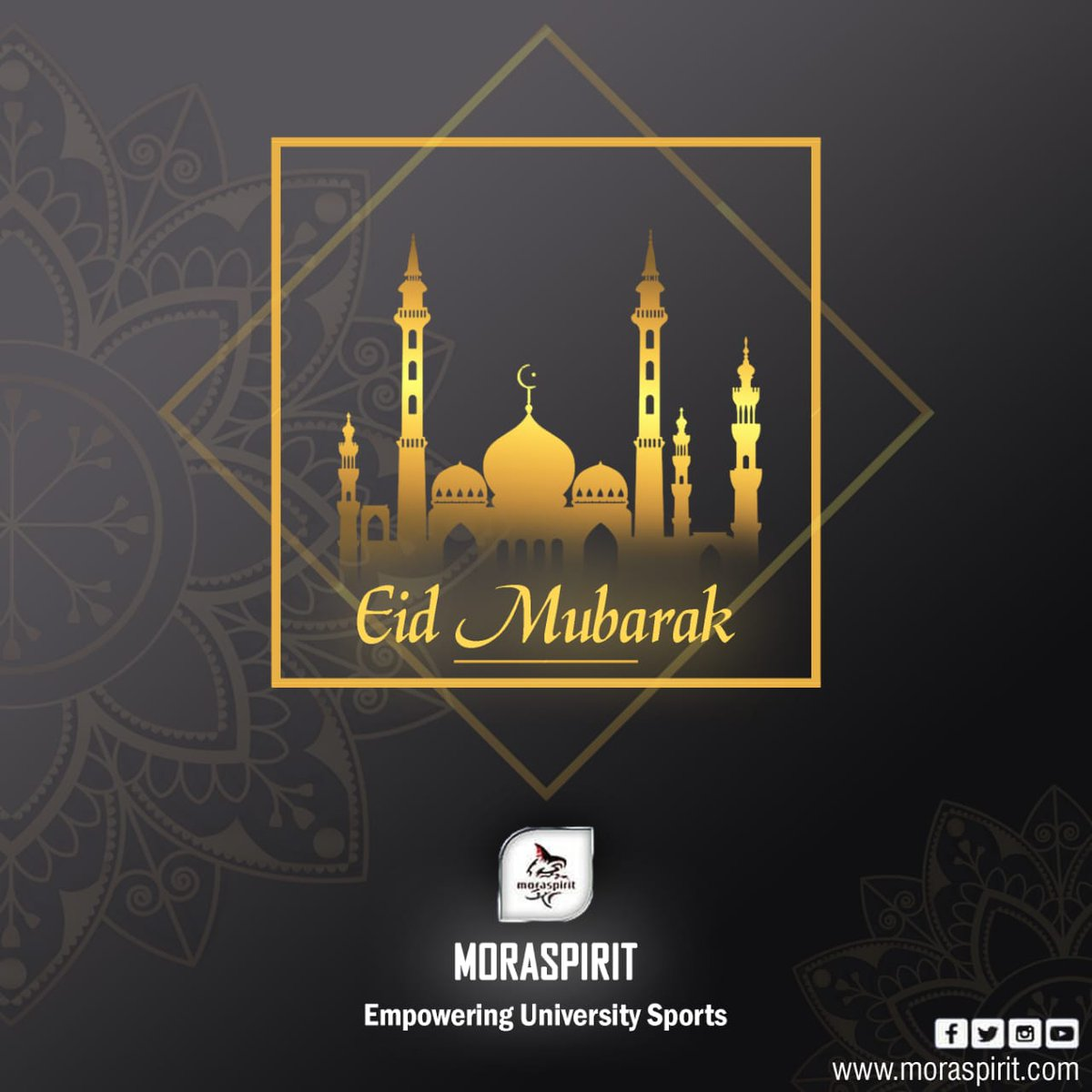 Eid Mubarak to all our Islam friends! May God bring you happiness, peace and all the good things you wish for this year. #Moraspirit #Empowering_university_sports  #Eid_Mubarak https://t.co/sYApEBSy6o