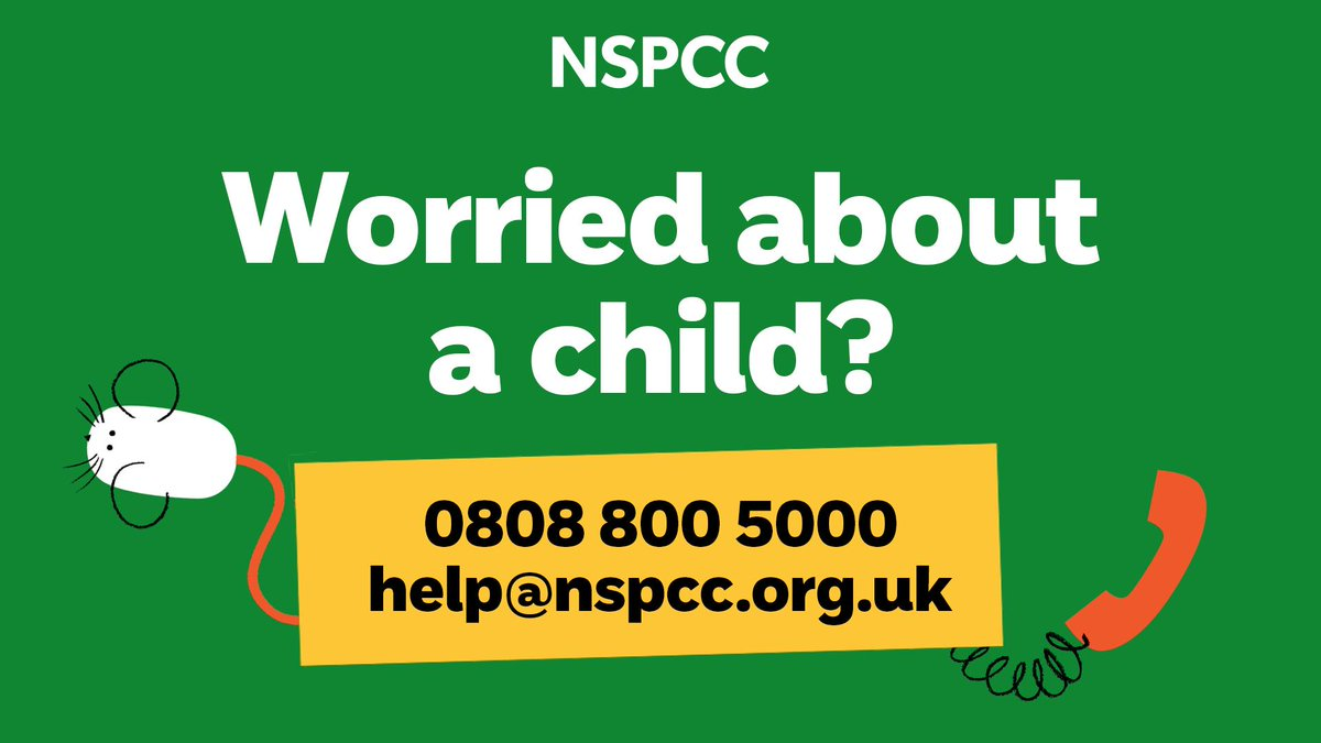 If you're worried about a child, contact the NSPCC. They're still here for children and still here for you. The helpline is open 7 days a week. crowd.in/7bisVK