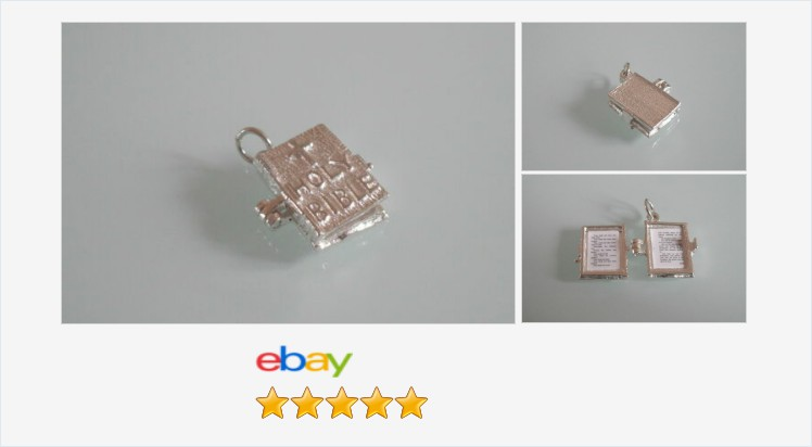Brand New Sterling Silver 3D Opening Bible Charm/Pendant - boxed | eBay #sterlingsilver #bible #charm #pendant #traditional #jewellery #gifts #finejewelry #giftideas #lordsprayer #giftsforher #giftsforhim #jewelry #religious #uksmallbiz #religiousgifts https://www.ebay.co.uk/itm/313086360075…pic.twitter.com/IcV3aCK6pb