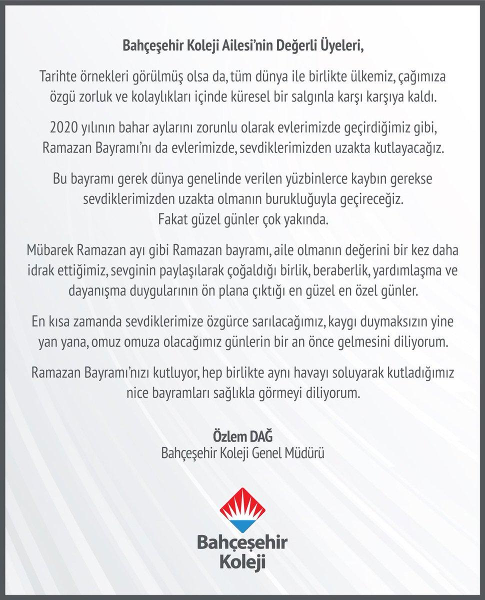 Genel Müdürümüz Sayın Özlem Dağ'ın Ramazan Bayramı Mesajı: https://t.co/yeCewe7ydM