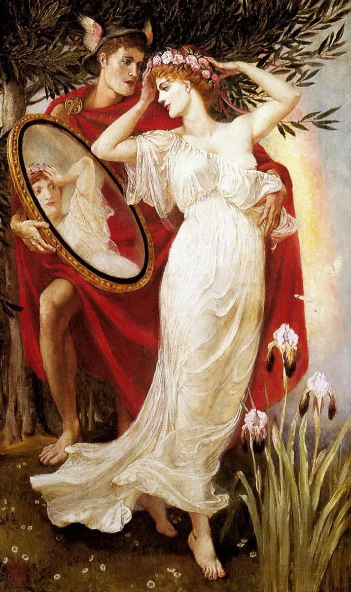aphrodite goddess painting - 700×1204