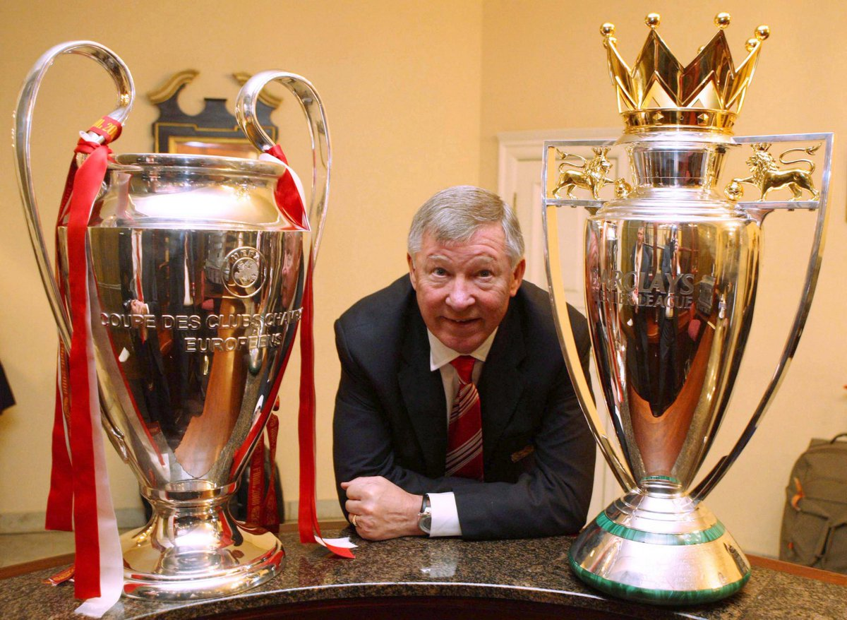 Under SAF, we 3-peated the Premier League on two separate occasions and when the league was at its best with English teams making UCL Finals in 2005, 2006, 2007, 2008 and 2009 we still 3-peated the Premier League. https://t.co/YoWNu8rgzU