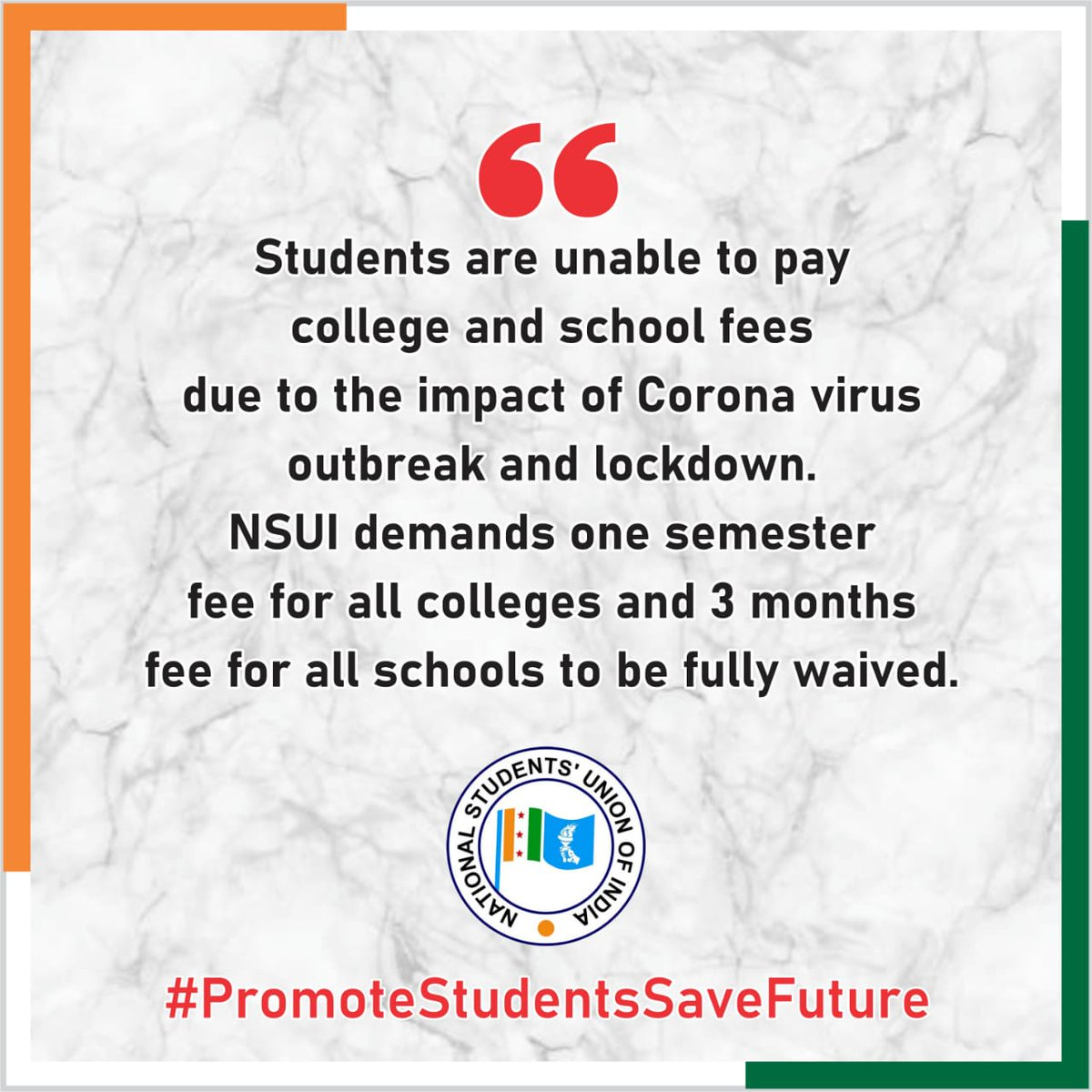 .@nsui is not just a frontal organisation of a political party , but it's an ideology having an amalgamation of patriotism with the spark of young minds and future intellectual leaders,which makes a nation shine like a star. #PromoteStudentsSaveFuture https://t.co/3MYKisu3mr