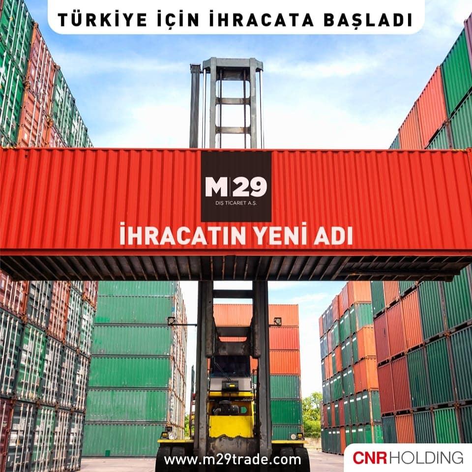 CNR Holding'in firmalarımızı fuarcılığın bir adım ötesine taşıyacak yeni şirketi M29 Dış Ticaret A.Ş. Türkiye için ihracata başladı. İlk ihraç ürünlerimiz Kanada ve Ukrayna'ya gönderilmek üzere yola çıkıyor. #business #trade #export #import #turkey #shipping #market #foreigntrade https://t.co/yNxXYU8KUt