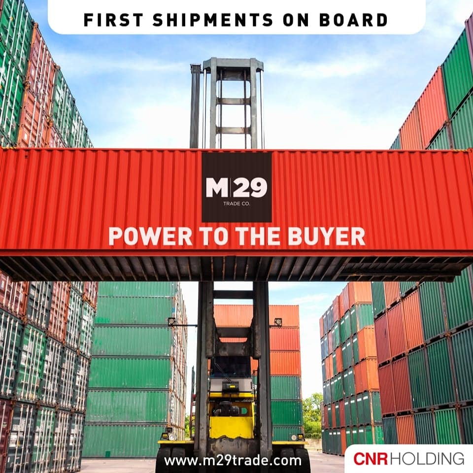 M29 Trade Co, the new affiliate of CNR Holding, with an aim of taking its trade enabling services one step further, has started a Trade Company serving Turkish and International Companies. First shipments to Canada and Ukraine underway.  #business #trade #export #import #turkey https://t.co/09I05zB94d