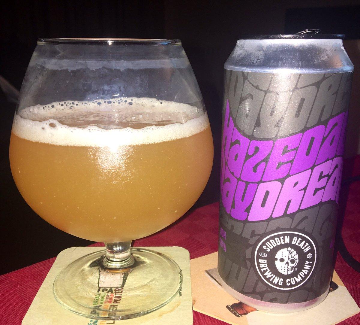 Hazedelic Daydream Sudden Death Brewing Co (Alemanha ) @suddendeathbrew  Double Imperial IPA; 8% ABV #CraftBeer #cervejaartesanal pic.twitter.com/PwlWWrE9sd