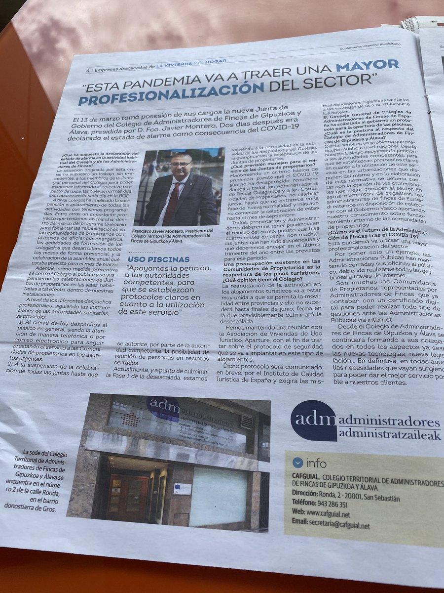 Interesante entrevista al Presidente de @cafguial publicada hoy en el @diariovasco https://t.co/LW6p6jxqiF