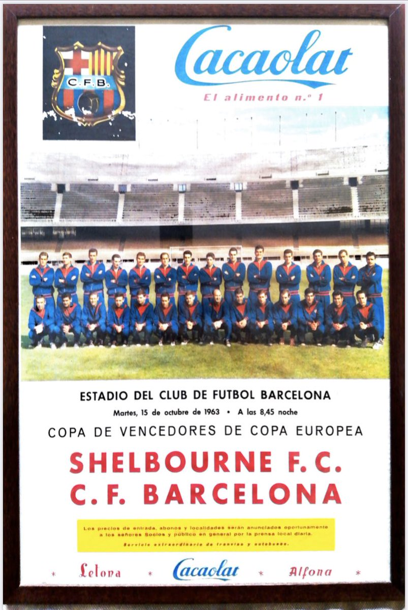 1963 | The Reds v Barca match poster   #Since1895 <br>http://pic.twitter.com/RjBvhpRjCc