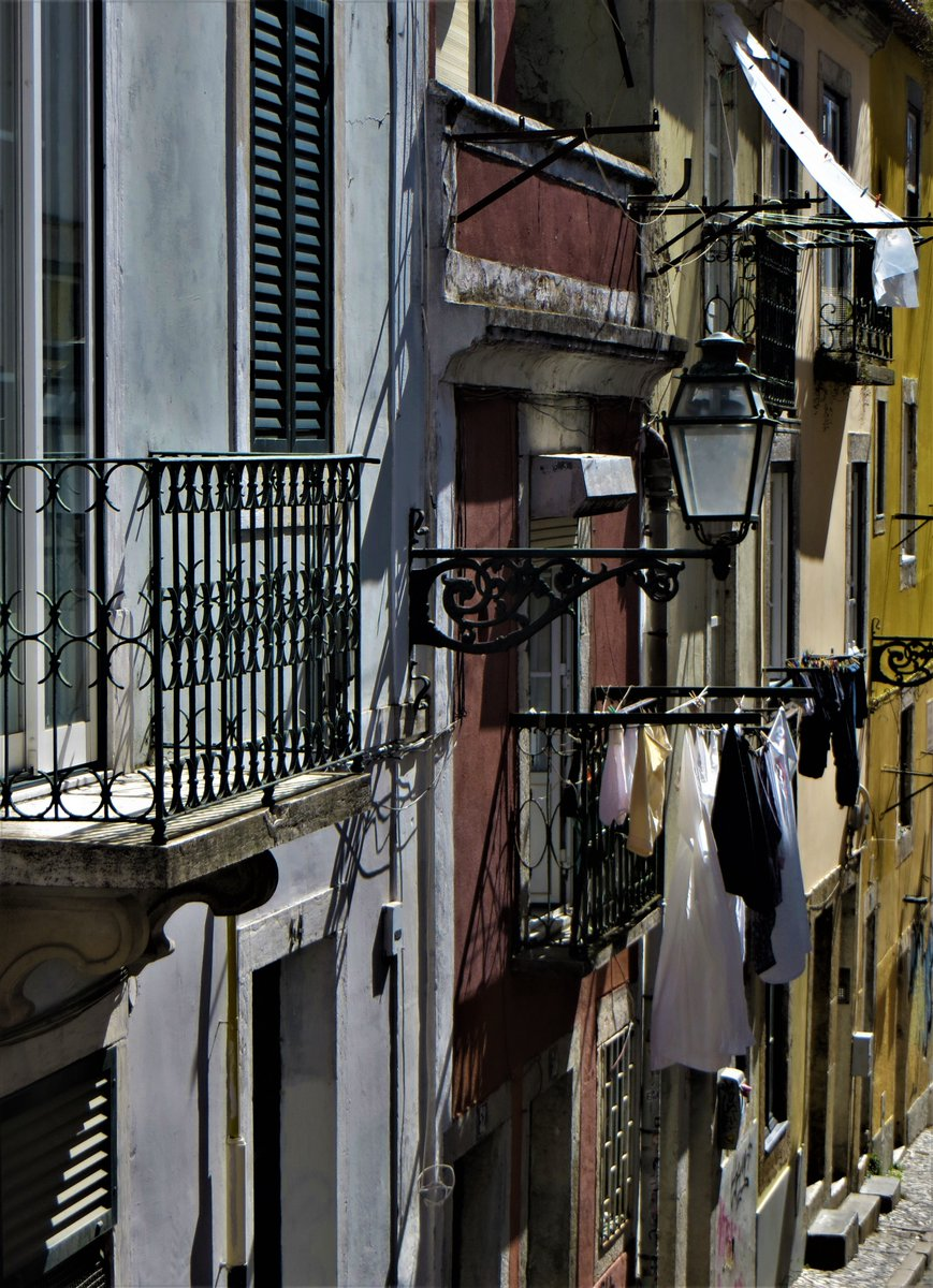 Good morning #Lisbon All quiet in the #BairroAlto except for a lot of hungry pigeons, a few solitary residents out walking & diligent garbage collectors #Lockdown #Portugal pic.twitter.com/KLydGqBKmM