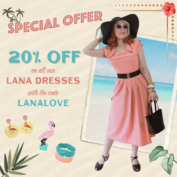 Don't miss out on this special offer, 20% OFF on all of our Lana Dresses!  Use code ' LANALOVE' valid until the 1st of June at midnight!  #vivienofholloway @vivienofholloway   #madeinlondon #vintagestyle #retro #pinupstyle #lanadress #drapedress #specialoffer #40sdress #1940spic.twitter.com/RbRDpFgGks