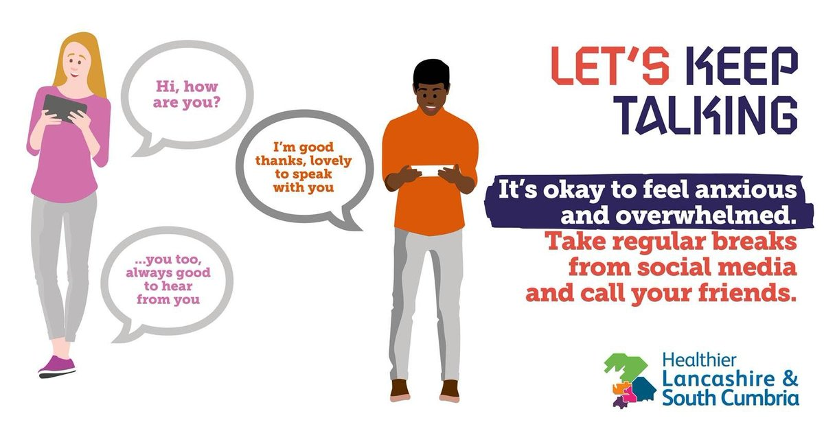 🤗 | This #MentalHealthAwarenessWeek, if you think a friend is struggling with their mental health, reach out and check how they're doing. A video call, telephone call or even a message can make all the difference to someone feeling alone 🌈#StartTheConversation #KindnessMatters