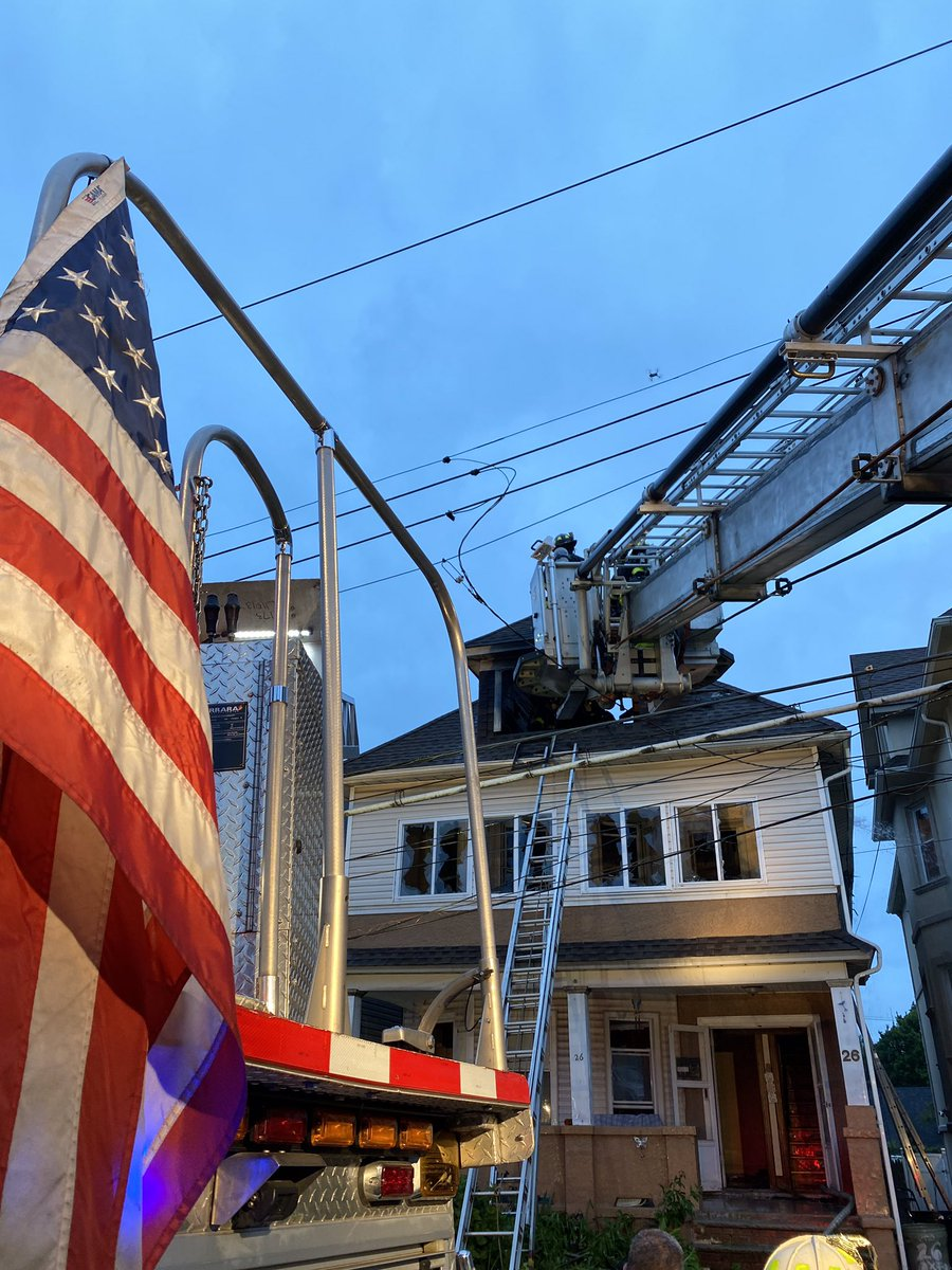 FDNY members operated on scene of a 3-alarm fire yesterday evening at 26 Oxford Pl. on Staten Island.